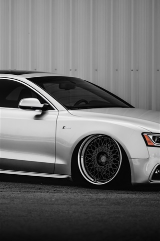 iPhone Wallpaper Audi S5 silver car side view