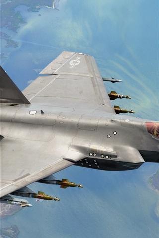 iPhone Wallpaper F-35C aircraft flight, weapons
