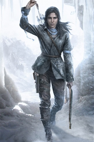 iPhone Papéis de Parede Rise of the Tomb Raider, gelo, inverno