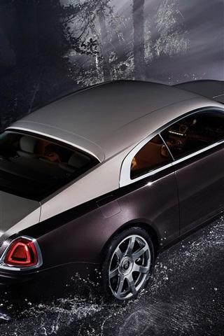 iPhone Wallpaper Rolls-Royce Wraith luxury car at night