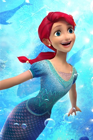 iPhone Wallpaper The Little Mermaid: Attack of The Pirates, 2015 cartoon movie
