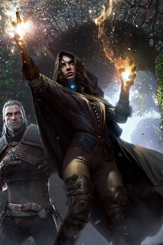 iPhone Wallpaper The Witcher 3: Wild Hunt, PC game
