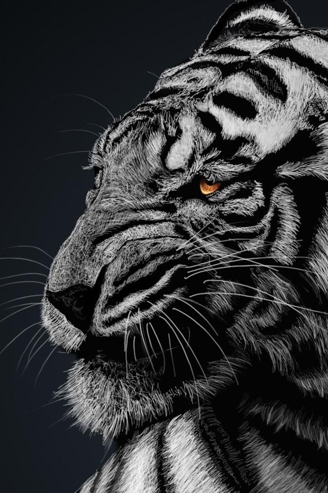 дужки картинки на телефон черно белые тигр слой фасадной термопанели