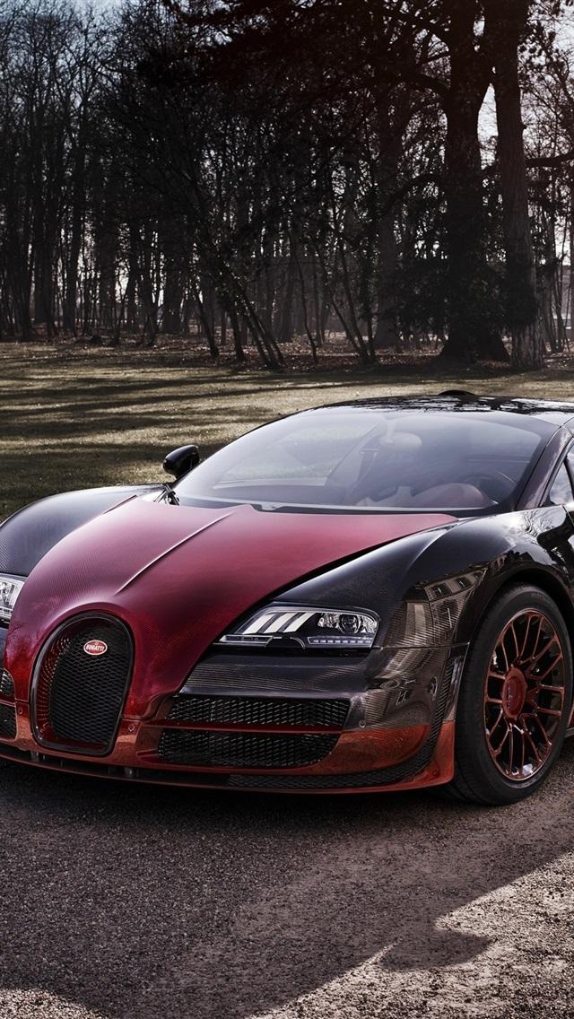 Bugatti Veyron Grand Sport Vitesse Red Supercar Iphone X