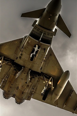 iPhone Wallpaper Aircraft, weapons, bomber, bottom view