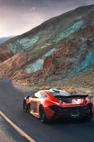 McLaren P1 hypercar volcano