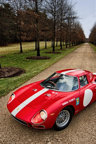 iPhone Wallpaper 1964 Ferrari 250 LM red supercar