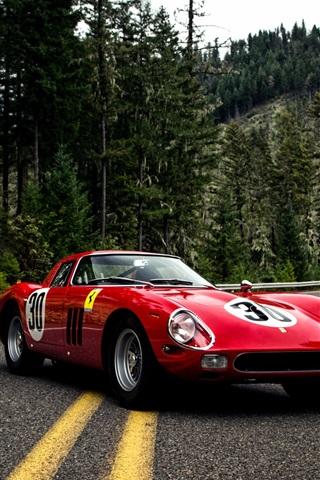 iPhone Wallpaper 1964 Pininfarina Ferrari 250 GTO Series II red supercar