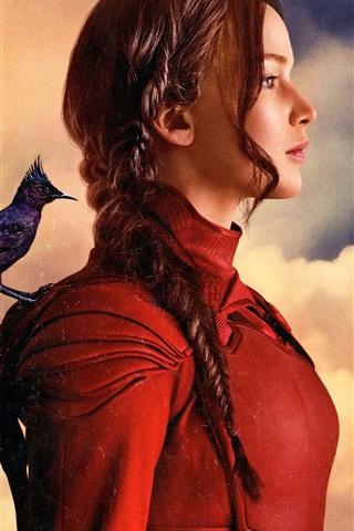 iPhone Hintergrundbilder 2015 The Hunger Games: Mockingjay, Teil 2, Jennifer Lawrence