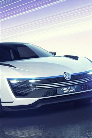 iPhone Wallpaper 2015 Volkswagen Golf GTE Sport concept car