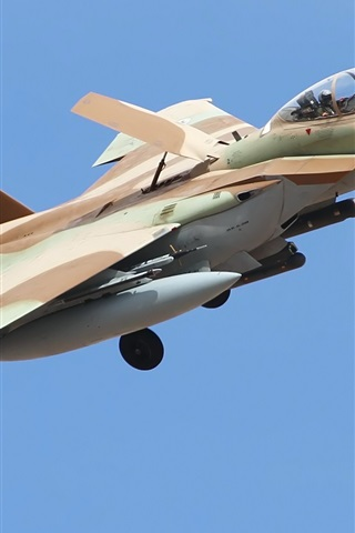 iPhone Wallpaper F-15 fighter, Israeli Defense Force