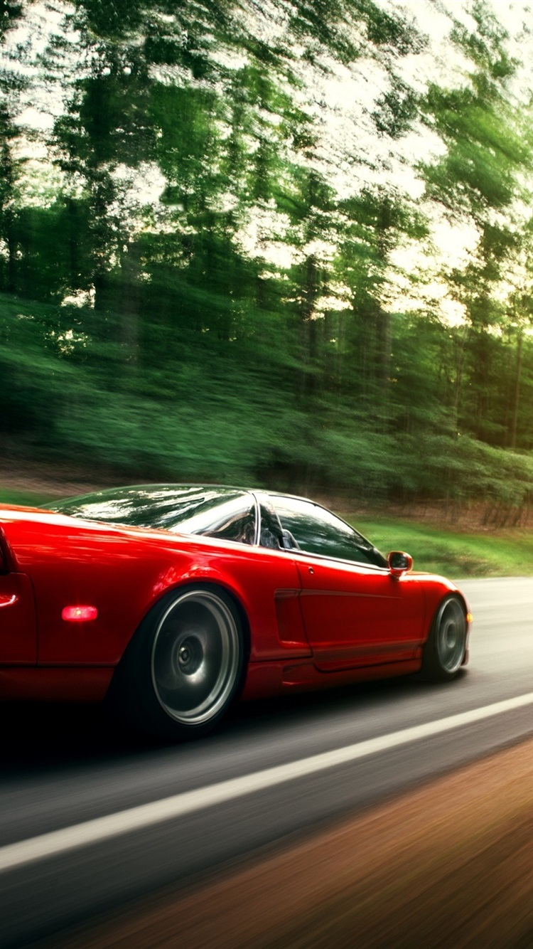 Honda Nsx Red Car In Motion 750x1334 Iphone 8 7 6 6s