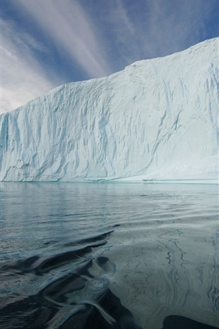 iPhone Wallpaper Iceberg, ice floe, sea, Arctic, cold