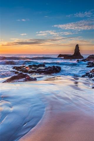 iPhone Wallpaper Jones Beach, Kiama Downs, New South Wales, Australia, sea, sunrise