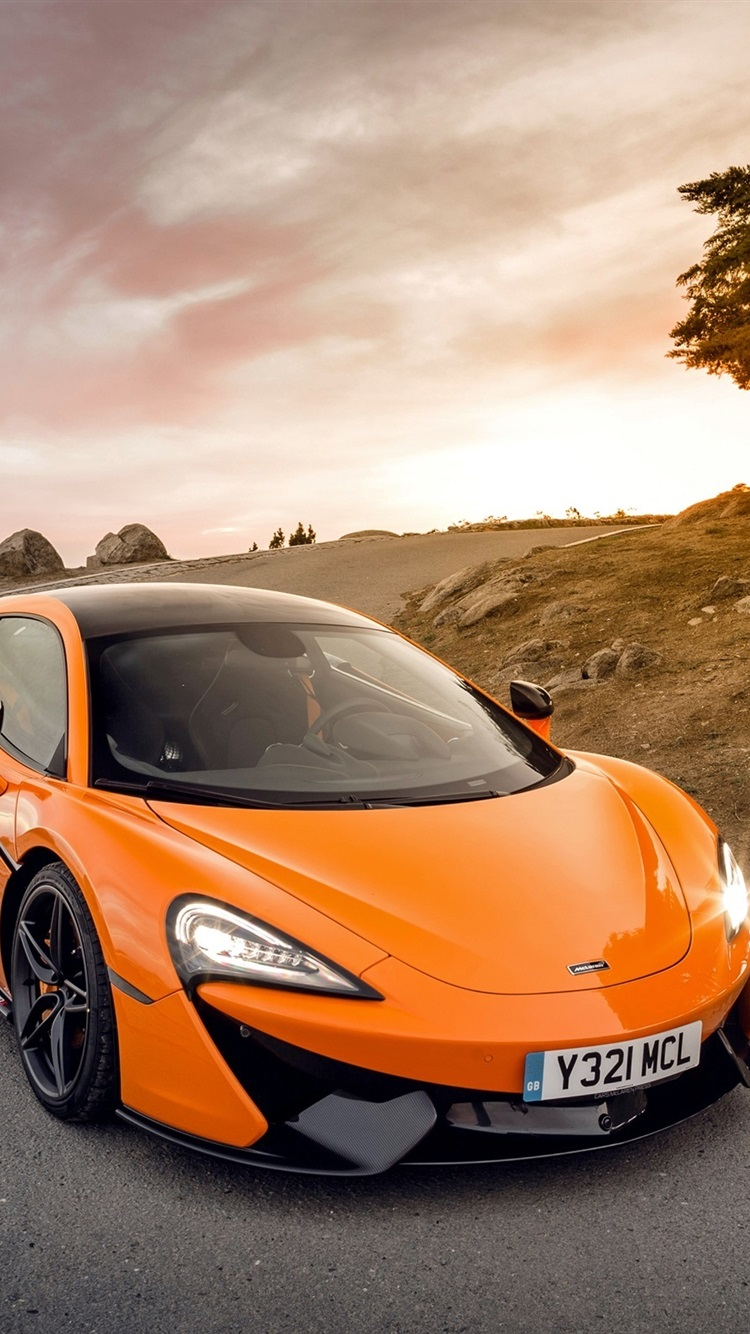 McLaren 570S orange supercar