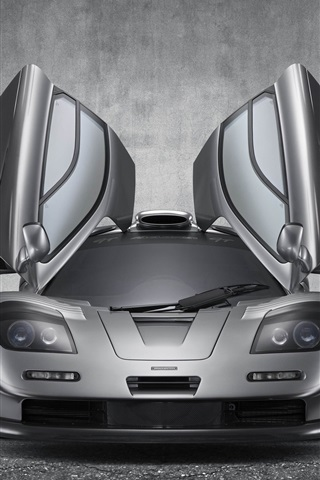 iPhone Wallpaper McLaren F1 GT supercar, wings