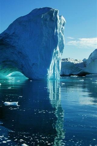 iPhone Papéis de Parede Mar, iceberg, gelo, água