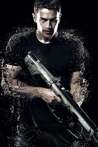 iPhone Wallpaper Theo James, Divergent 2, 2015 movie