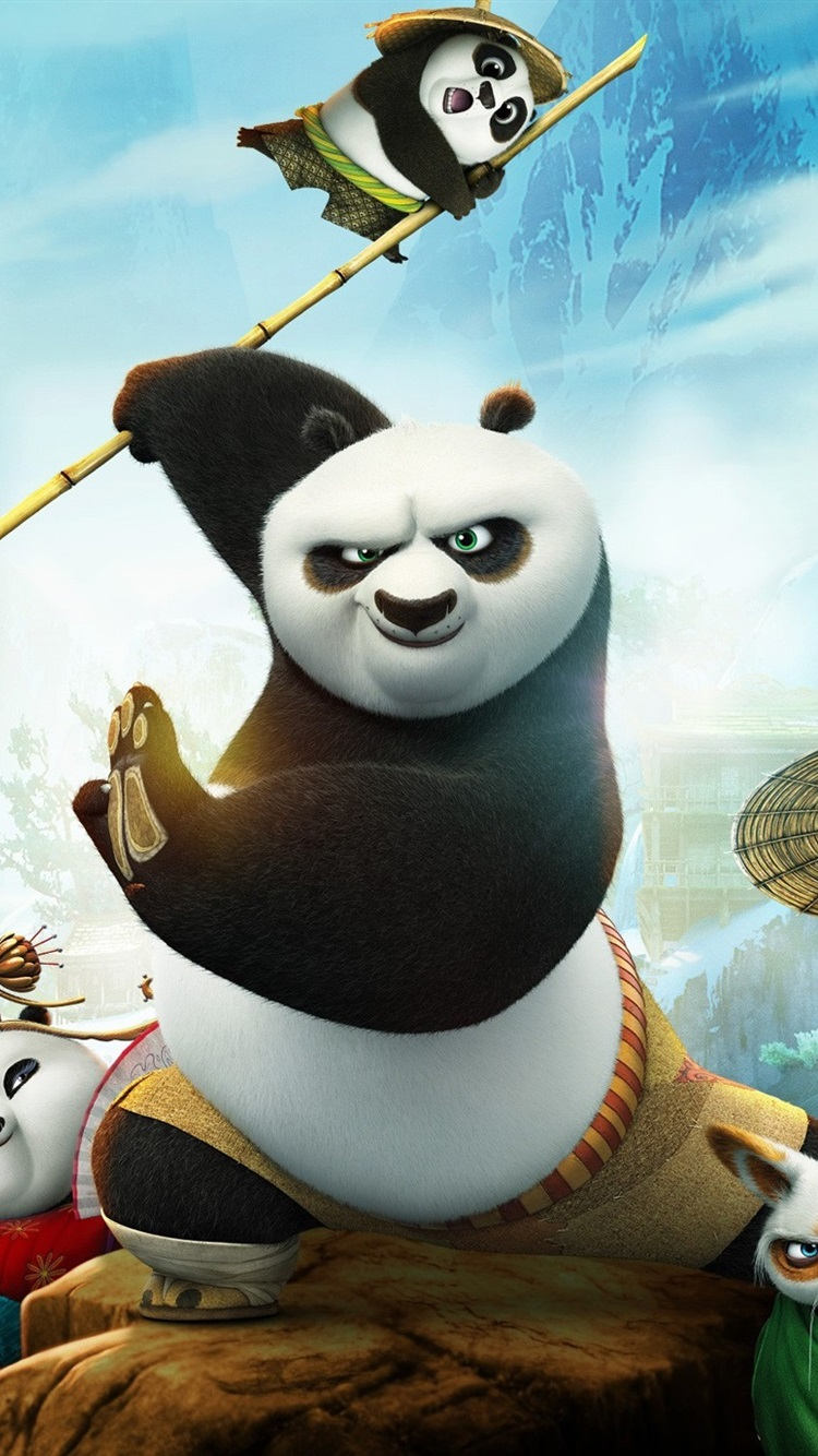 2016 Movie Kung Fu Panda 3 750x1334 Iphone 8 7 6 6s Wallpaper