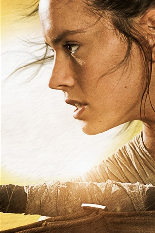 iPhone Papéis de Parede Daisy Ridley, a Star Wars Episódio VII: The Force desperta