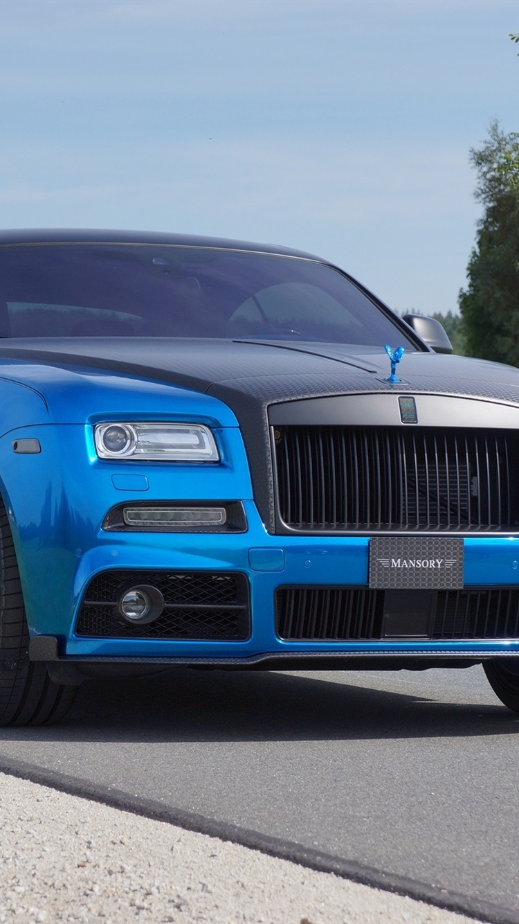 2015 Mansory Rolls Royce Wraith Blue Luxury Car Front View