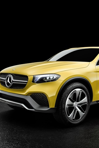 iPhone Wallpaper 2015 Mercedes-Benz Concept GLC yellow concept car