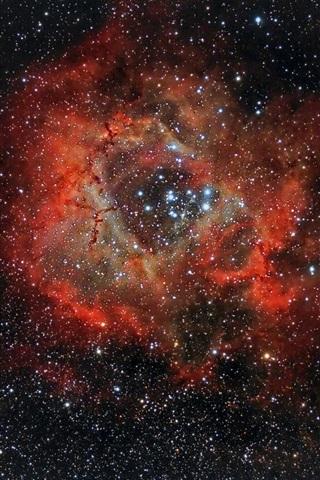 iPhone Wallpaper Beautiful nebula, rosette, NGC 2237, space, stars