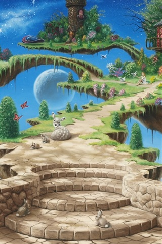 iPhone Wallpaper Dream of paradise, beautiful, creative design pictures