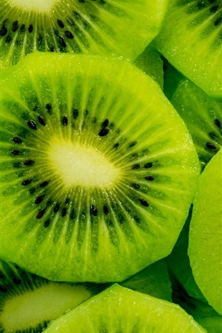 iPhone Wallpaper Fresh fruit, green kiwi slice
