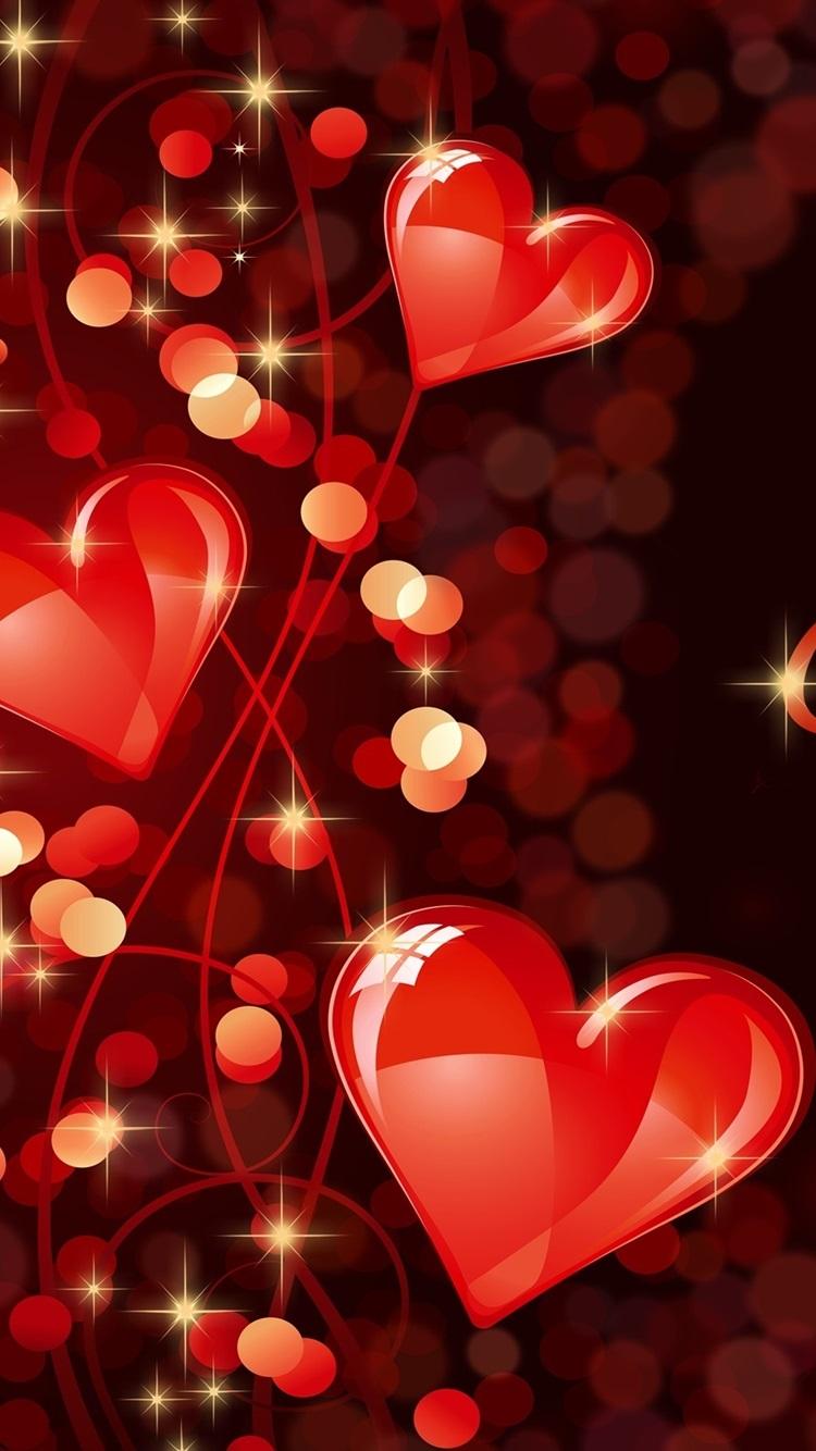Happy Valentine S Day Romantic Love Hearts 750x1334
