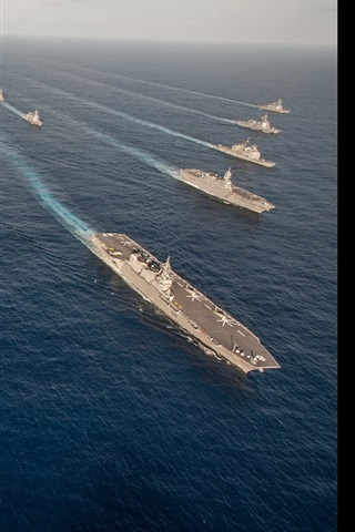 iPhone Wallpaper Military ships, weapons, army, sea