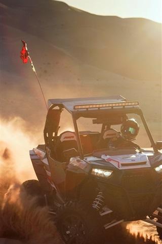 iPhone Wallpaper Race car, sports, dust, sun