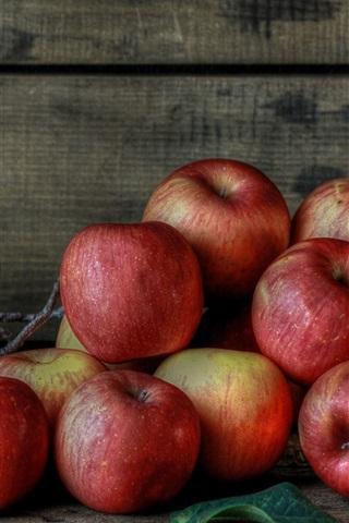 iPhone Wallpaper Fresh fruits, red apples, berries