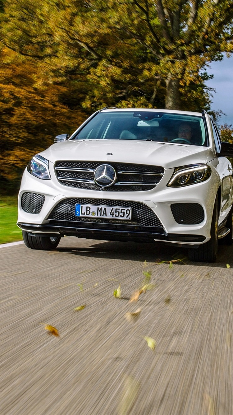 Mercedes Benz Amg Gle Class W166 White Car Front View 750x1334 Iphone 8 7 6 6s Wallpaper Background Picture Image