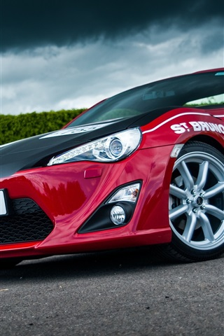iPhone Wallpaper 2015 Toyota GT86 red car front view