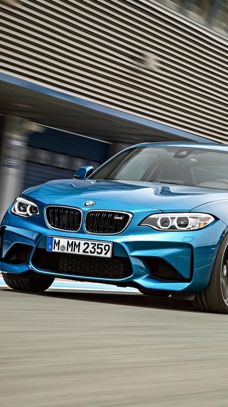 Bmw M2 F87 Blau Fahrzeuggeschwindigkeit 750x1334 Iphone 8 7
