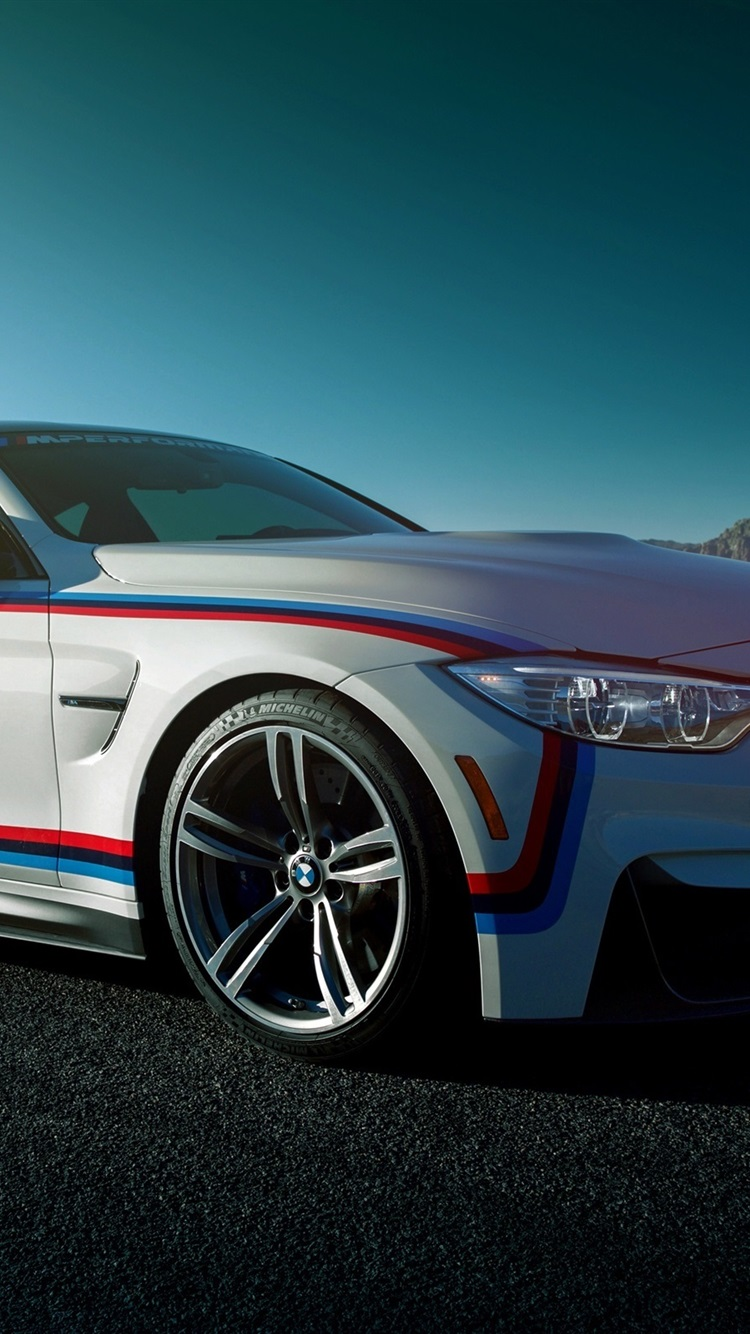 Bmw M4 Coupe White Car Side View 750x1334 Iphone 8766s