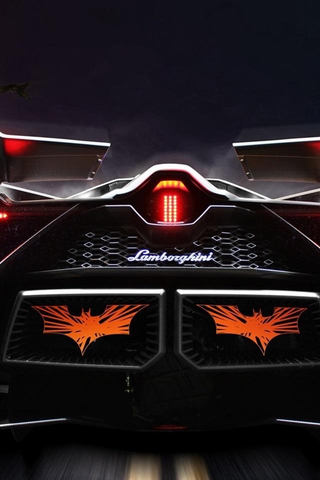Lamborghini Egoista Concept Supercar Rear View 640x960 Iphone 4 4s