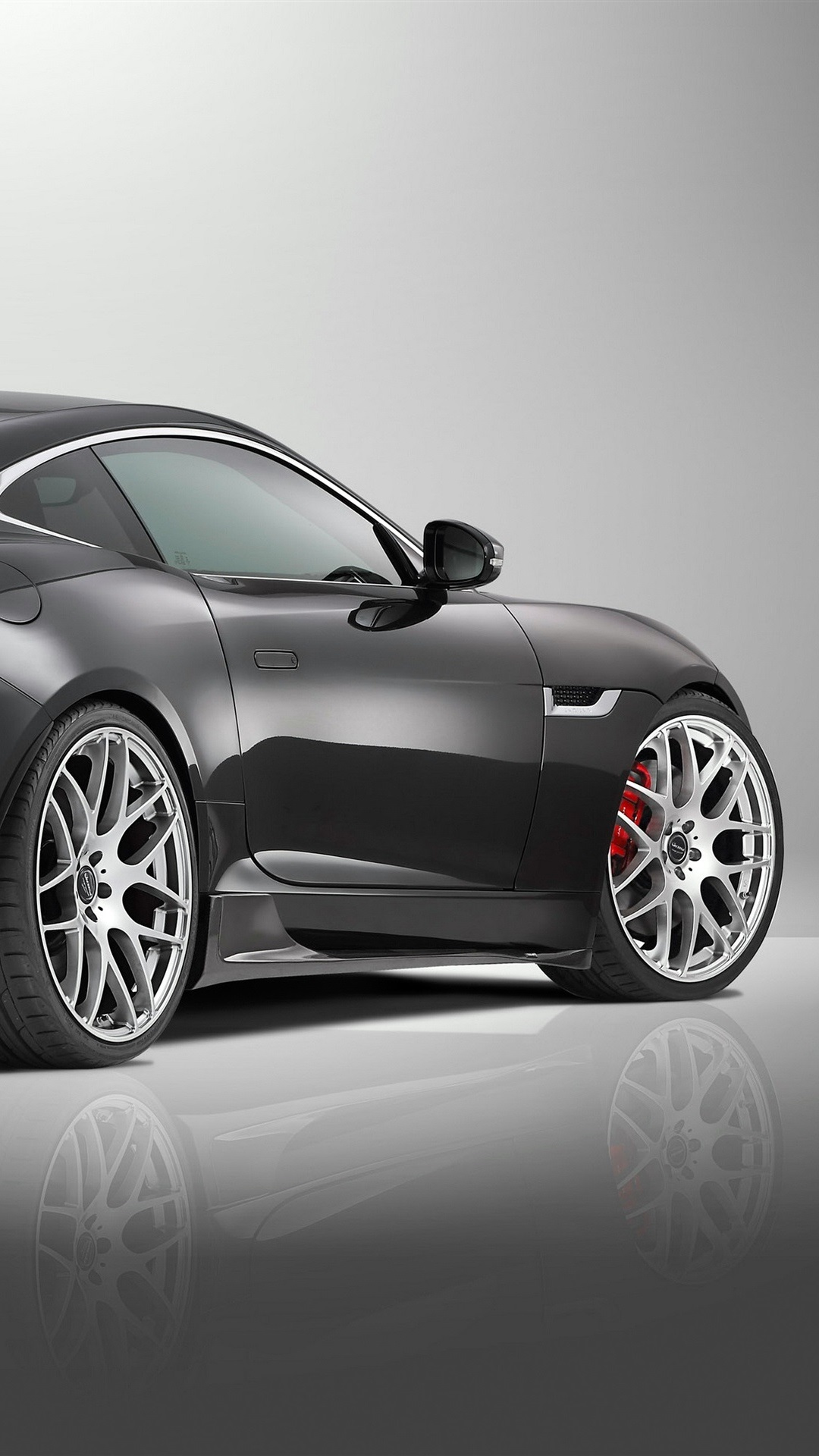 Wallpaper 2015 Jaguar F Type R Coupe Black Supercar Rear View