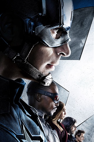 iPhone Wallpaper Captain America: Civil War 2016