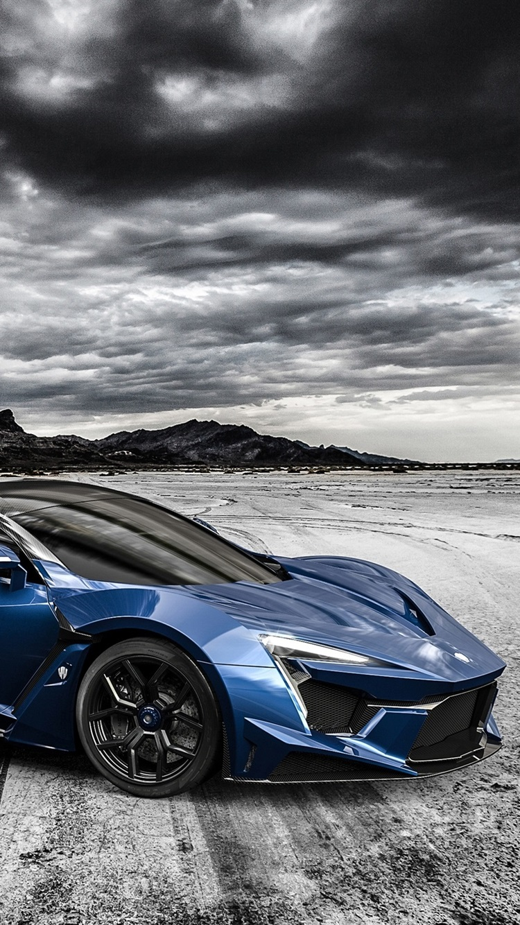 Fenyrスーパースポーツ青スーパーカー 750x1334 Iphone 8 7 6 6s 壁紙 背景 画像