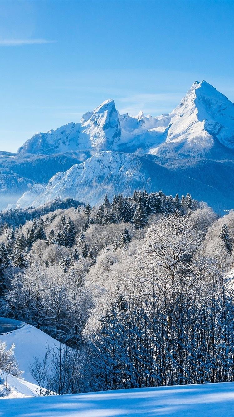 Germany, Bavaria, Alps, winter, snow ...