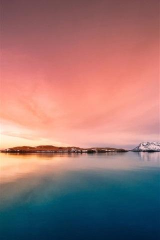 iPhone Wallpaper Iceland, islands, sea, dusk