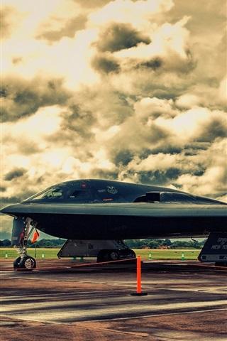 iPhone Wallpaper Northrop B-2A Spirit Stealth Bomber