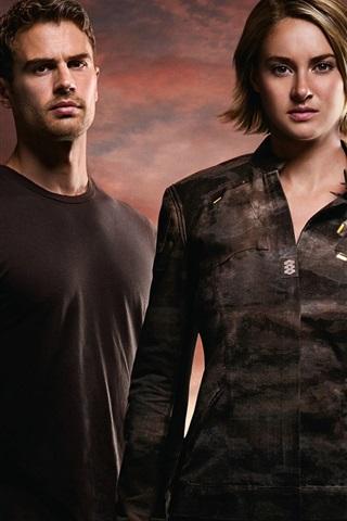 iPhone Wallpaper Shailene Woodley, Theo James, The Divergent Series: Allegiant