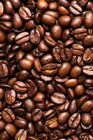 iPhone Wallpaper Toasted coffee beans, seeds