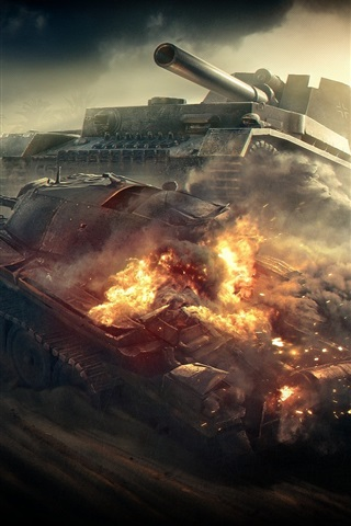iPhone Wallpaper World of Tanks, destroy