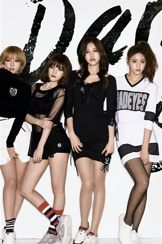 iPhone Wallpaper AOA, Korean music girls 04