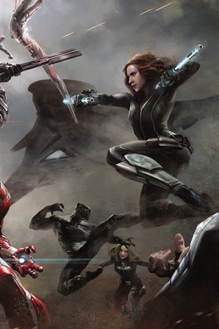 iPhone Wallpaper Captain America: Civil War, 2016 HD