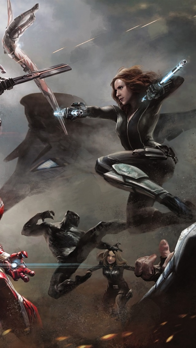 Captain America Civil War 2016 Hd 640x1136 Iphone 5 5s 5c Se Wallpaper Background Picture Image